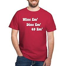 Wine em' Dine em' Cardinal T-Shirt