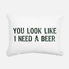 I Need A Beer Rectangular Canvas Pillow