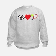 I Heart Tennis Emoji Sweatshirt