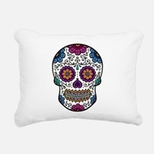 Sugar Skull Rectangular Canvas Pillow