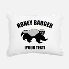 Honey Badger Custom Rectangular Canvas Pillow