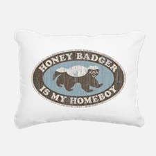 Vintage Honey Badger HB Rectangular Canvas Pillow