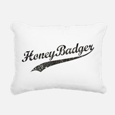 Team Honey Badger [b/w] Rectangular Canvas Pillow