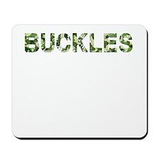 Buckles, Vintage Camo, Mousepad