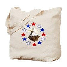 Bald Eagle American Star Tote Bag