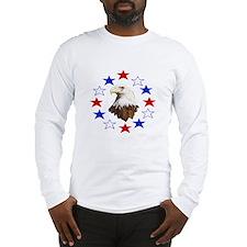 Bald Eagle American Star Long Sleeve T-Shirt