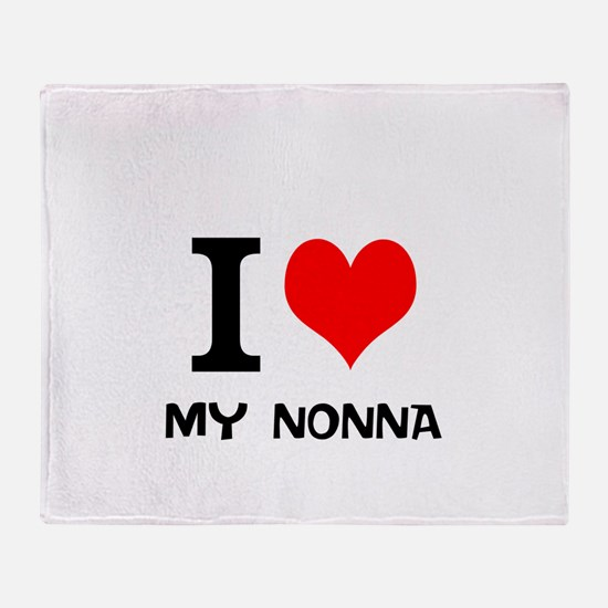 I Love My Nonna Throw Blanket
