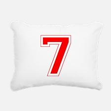 7 red.png Rectangular Canvas Pillow