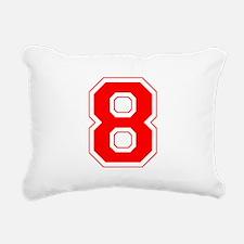 8 red.png Rectangular Canvas Pillow