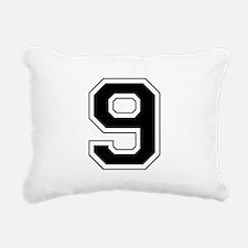 9 black.png Rectangular Canvas Pillow