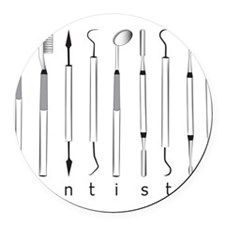 Dentistry Tools Round Car Magnet