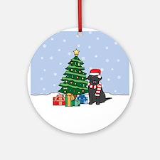 Black Labrador Retriever Christmas Ornament