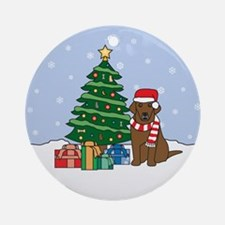 Chocolate Labrador Retriever Christmas Ornament