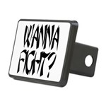Wanna fight.png Rectangular Hitch Cover
