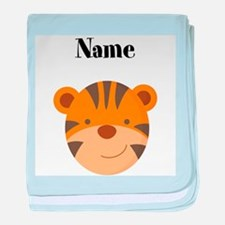 Personalized Tiger baby blanket