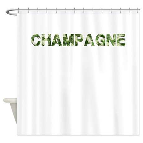Champagne, Vintage Camo, Shower Curtain