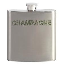 Champagne, Vintage Camo, Flask