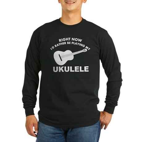 Ukulele silhouette designs Long Sleeve Dark T-Shir