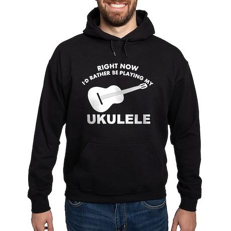 Ukulele silhouette designs Hoodie (dark)