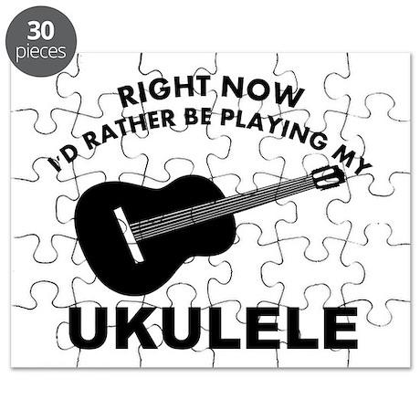 Ukulele silhouette designs Puzzle