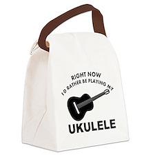 Ukulele silhouette designs Canvas Lunch Bag