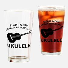 Ukulele silhouette designs Drinking Glass