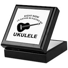 Ukulele silhouette designs Keepsake Box