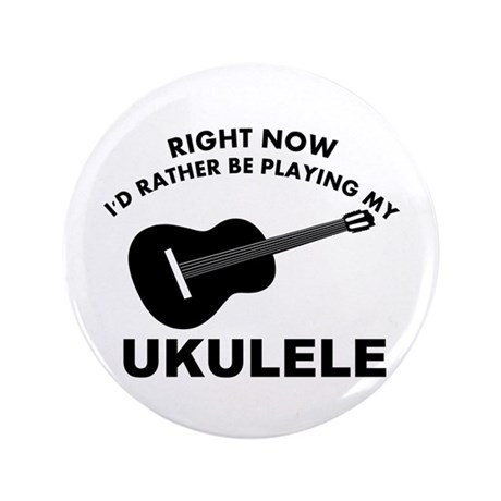 "Ukulele silhouette designs 3.5"" Button (100 pack)"