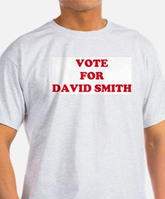 VOTE FOR DAVID SMITH Ash Grey T-Shirt