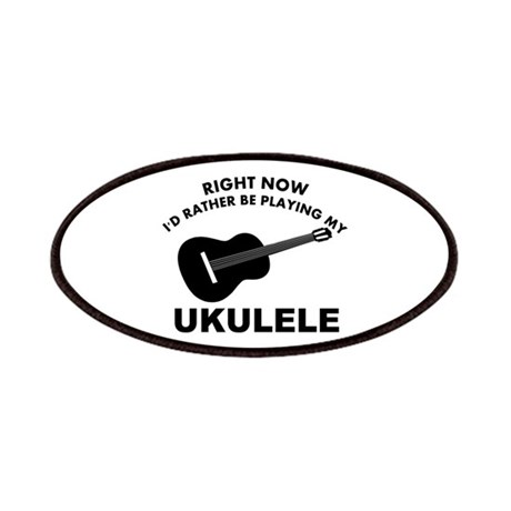 Ukulele silhouette designs Patches by colossustees
