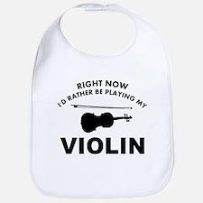 Violin silhouette designs Bib