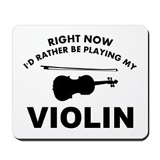 Violin silhouette designs Mousepad