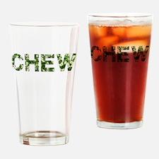 Chew, Vintage Camo, Drinking Glass