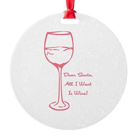 WINE Round Ornament