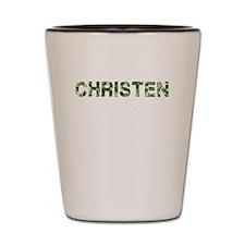 Christen, Vintage Camo, Shot Glass