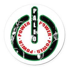 Paleo Power Circle Round Car Magnet