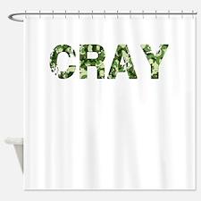 Cray, Vintage Camo, Shower Curtain