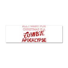 Christmas Zombie Apocalypse Car Magnet 10 x 3