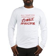 Christmas Zombie Apocalypse Long Sleeve T-Shirt