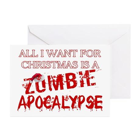 Christmas Zombie Apocalypse Greeting Cards (Pk of