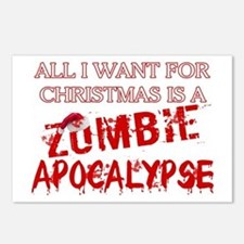 Christmas Zombie Apocalypse Postcards (Package of