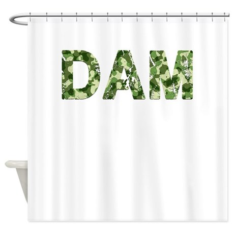 Dam Vintage Camo Shower Curtain By Thecafemarket