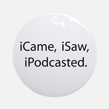 Podcast Ornament (Round)