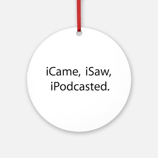 Podcast Ornament (Round)