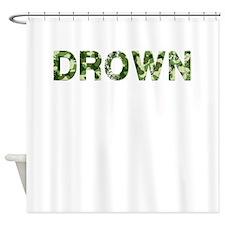 Drown, Vintage Camo, Shower Curtain