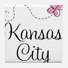 Pretty Kansas City Tile Coaster