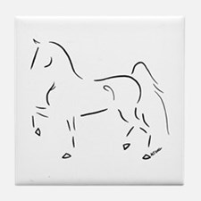 Stylized 3-Gaited American Saddlebred Tile Coaster