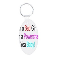 Im a Bad Girl #1 Aluminum Oval Keychain