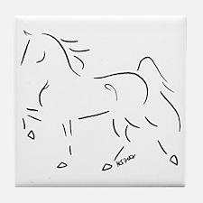 Stylized Five Gaited Saddlebred Tile Coaster