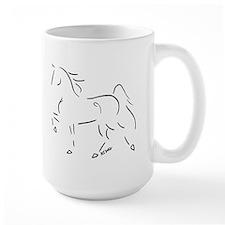 Stylized Five Gaited Saddlebred Mug